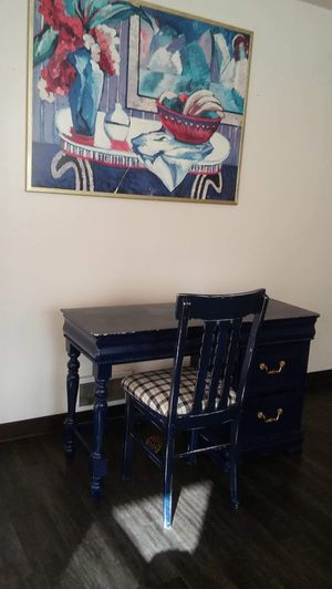 Victorian hand made desk chair + Wall art for Sale in Portland, OR