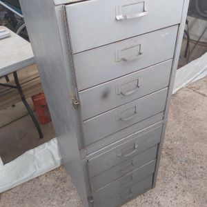 """4ft. X18""""x18"""" 8 Drawers Tool Box Or Nuts &bolts Storage $40, for Sale in Lakeside, CA"""