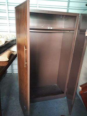 Metal shed/closet with wood print for Sale in West Menlo Park, CA