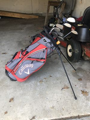 Calloway golf bag and several clubs including two Big Bertha woods for Sale in Greenwood, IN