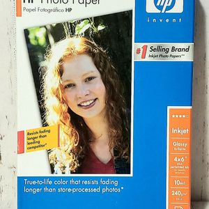 "Genuine HP Premium Glossy Inkjet Photo Paper 100 Sheets 4 x 6"" 64lb NIB for Sale in Harrisonburg, VA"