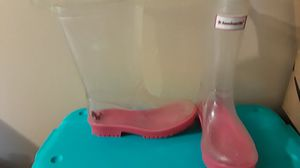 American Girl clear Wellies rain boots size 12/13. PRICE REDUCED AGAIN! Looks adorable with some cool socks for Sale in BELLEAIR BLF, FL