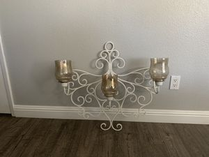 Rod iron wall candle holder for Sale in Poway, CA