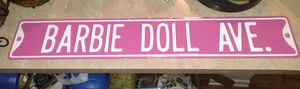 Large Pink Barbie Doll Ave metal sign. 36×6 for Sale in Westerville, OH