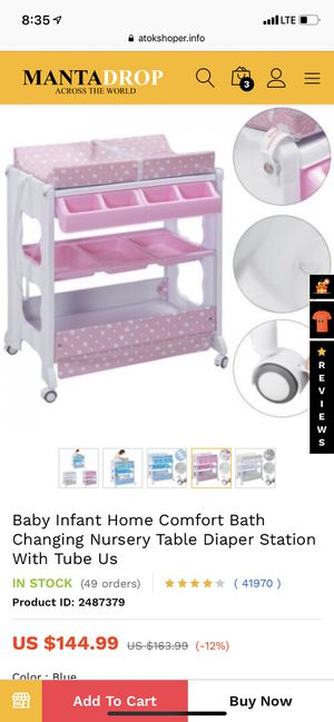 Baby bath tub and changing table combo for Sale in Miami Beach, FL