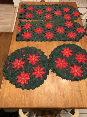 Christmas linens for Sale in Jeannette, PA