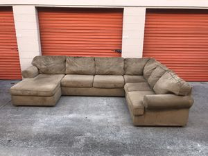 Tan Microfiber Sectional Couch -I can deliver for Sale in San Diego, CA