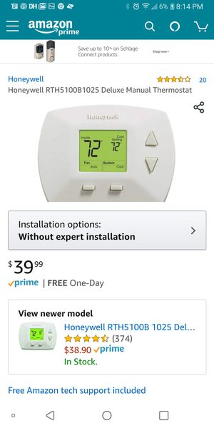 Honeywell non-programmabke thermostat for Sale in Stockton, CA