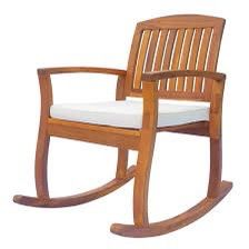 Outsunny Acacia Wood Outdoor Rocker for Sale in Silver Spring, MD