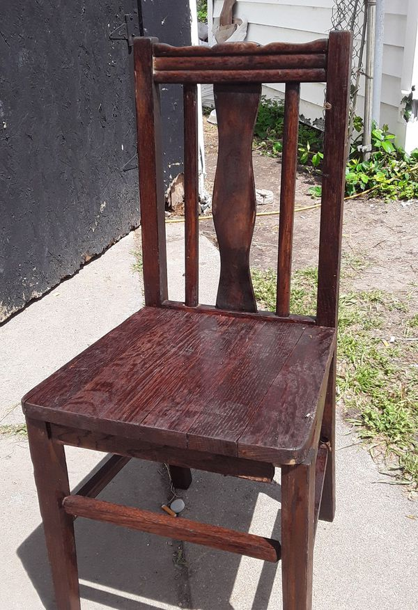 Antique wooden chairs.