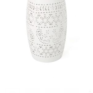 White Round Metal Outdoor Side Table for Sale in Arlington Heights, IL