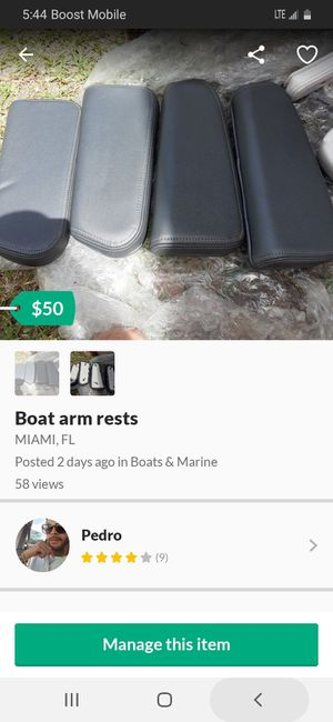 Boat arm rests for Sale in North Miami Beach, FL
