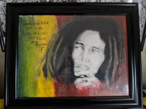 Chicago artist bob Marley painting for Sale in Cadillac, MI