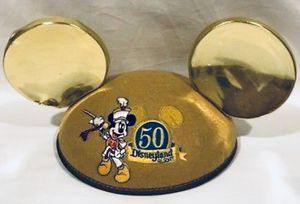 disneyland 50th anniversary / birthday MICKEY MOUSE gold ears hat - youth or infant size - NEW for Sale in Tustin, CA