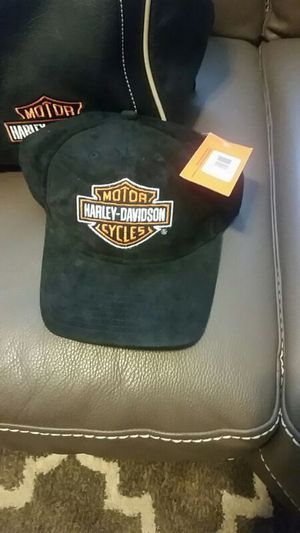 Unisex - Harley Davidson Black suede baseball cap for Sale in Boston, MA