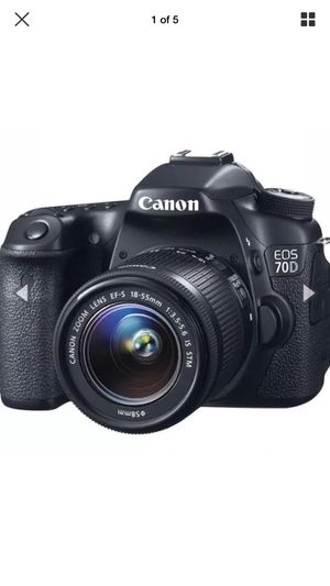 Canon 70d slr camera 2 lenses 18-55mm 18-135mm for Sale in San Leandro, CA