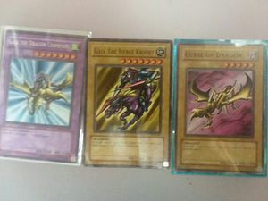 Rare Yugioh Cards Gaia The Dragon champion Plus fusions for Sale in Sunbury, OH