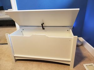 Kids white toy box for Sale in Bothell, WA