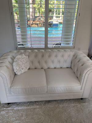 White Modern Sofa Make Offer $350 for Sale in Houston, TX