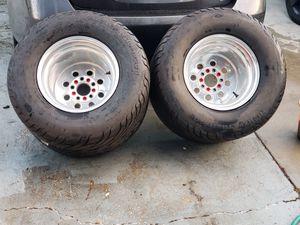 Mickey Thompson 29x18x15 on weld draglite 15x14 rims for Sale in Lockhart, FL