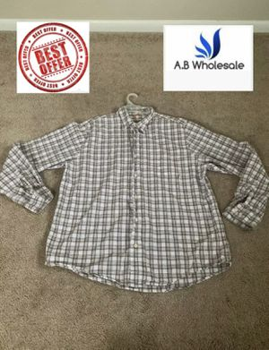 Timberland Mens XL Long Sleeve Button Down Shirt Brown White Plaid Dress Casual for Sale in Garden City, MI