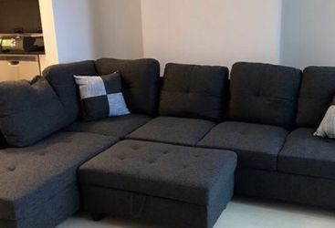 New. Black gray Sectional Couch ottoman for Sale in Fremont,  CA