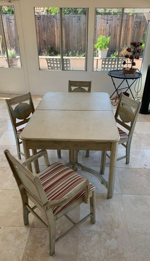 Antique Dinning table with 4 Chairs. $400 OBO. for Sale in Anaheim, CA