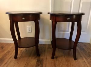 Two cherry wood side tables for Sale in Glendale, CA
