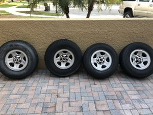 5 Jeep Wrangler TJ rims and tires for Sale in Tampa, FL