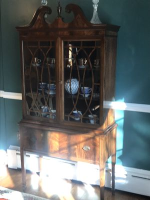 Antique All Wood Mahogany China Cabinet for Sale in Washington, MD