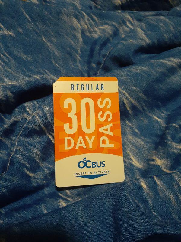 BRAND NEW 30 DAY BUS PASS