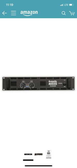 Acoustic Audio PA2000 Amp Two Channel 2000 Watt Pro Audio Power Amplifier PA DJ for Sale in Phoenix, AZ