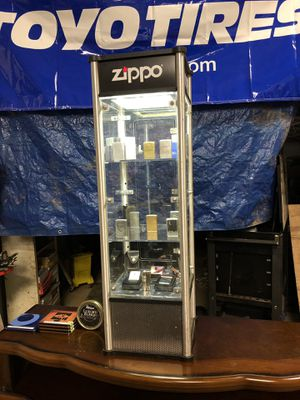 Zippo display case with lighter collection for Sale in Travelers Rest, SC