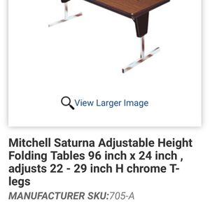 Huge Adjustable height folding table for Sale in Wichita, KS