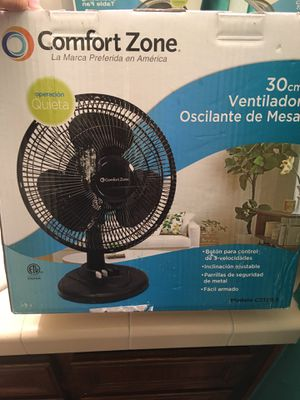 Comfort zone 12 in Oscillating Table Fan for Sale in San Diego, CA