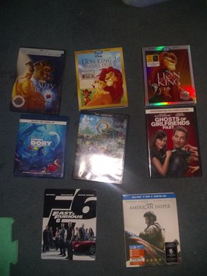 All 9 movies for $80 (or BEST OFFER) for Sale in Fontana, CA