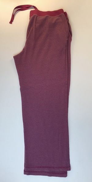 Women's striped pajama bottoms grey & raspberry color with pockets size XL for Sale in Everett, WA