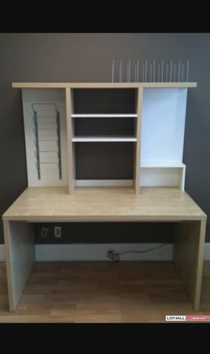 Large ikea desk with hutch for Sale in Albany, CA