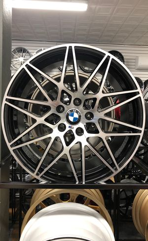 """19"""" 20"""" bmw m3 competition style wheels rims tires fit 5x120 3 4 5 6 series e36 e46 e90 e92 e93 328i 335i 340i xdrive gran coupe 428i 430i 435i 440i for Sale, used for sale  Queens, NY"""