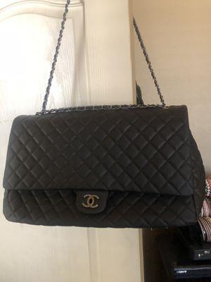 XXL Chanel Handbag Travel Bag Black Leather for Sale in Litchfield Park, AZ