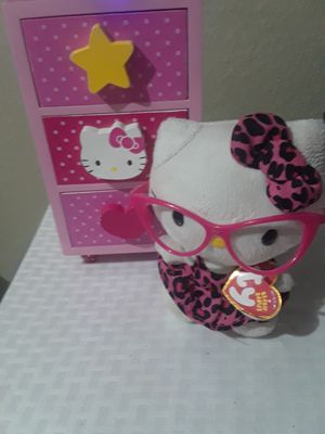 Beanie babies Hello kitty drawer set $30.00 cash only for Sale in Dallas, TX
