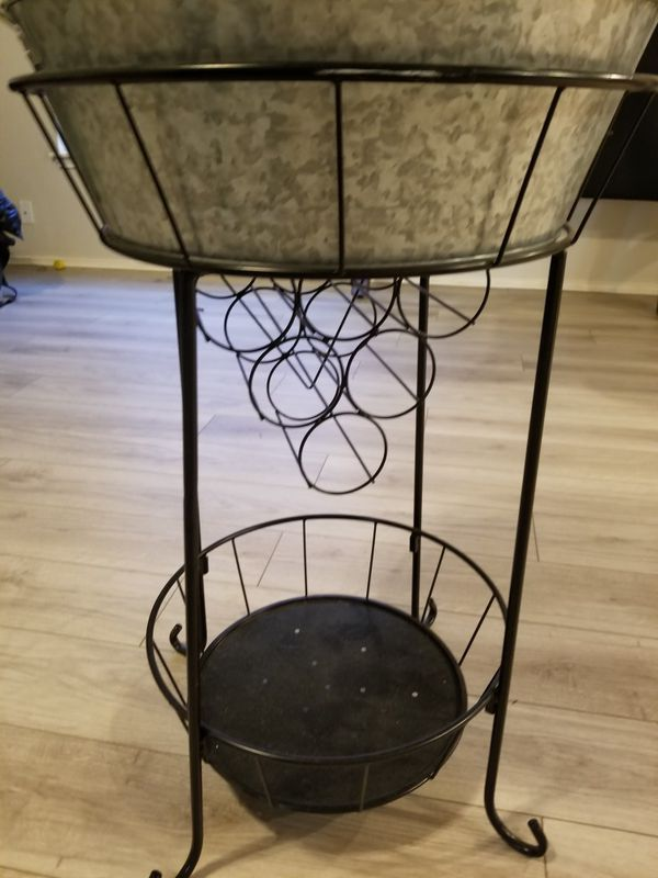 Wine Bottle Holder And Ice Bucket Stand For Drinks For
