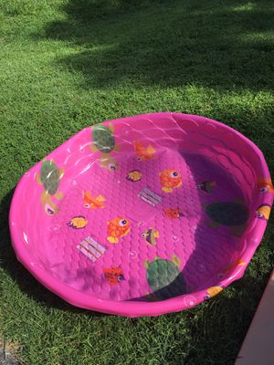 Large baby pool, basketball hoop (no ball), and alphabet Matt for Sale in North Potomac, MD
