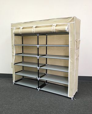 "$25 each NEW 6-Tiers 36 Shoe Rack Closet Fabric Cover Portable Storage Organizer Cabinet 43x12x43"" for Sale in Pico Rivera, CA"