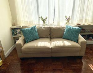 Serta Couch (Tan) for Sale in Arlington, VA