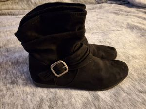 Slouchy booties size 7 women's. Black color, perfect with skinny jeans, leggings or boot cut jeans. for Sale in Vancouver, WA
