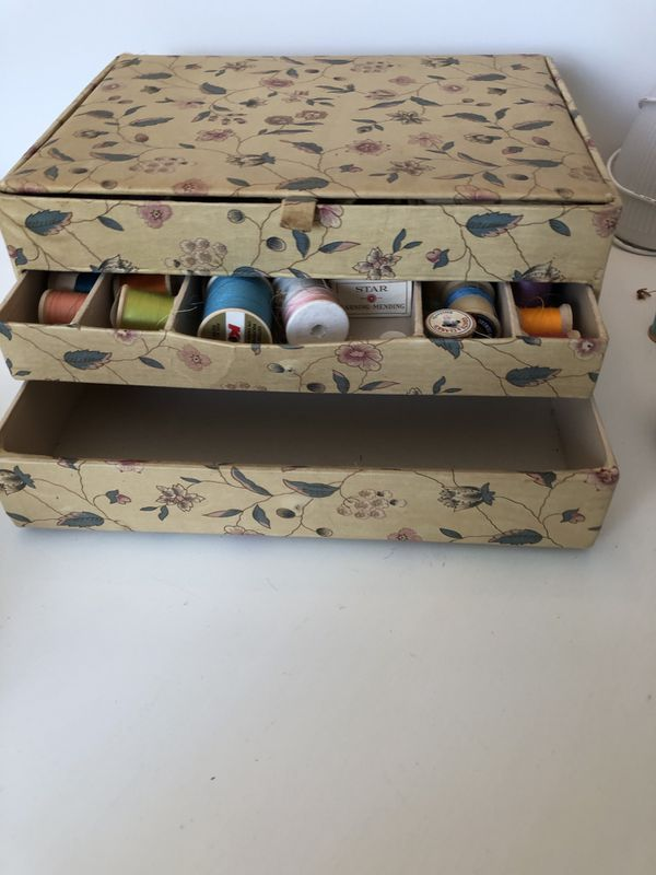 Vintage sewing box - basket
