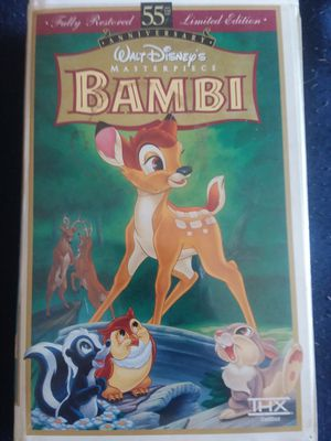 Disney's Bambi 55th anniversary Edition VHS for Sale in San Diego, CA