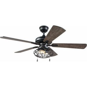 H.D.C. 52 in. LED Matte Black Indoor Ceiling Fan with Lights for Sale in Dallas, TX