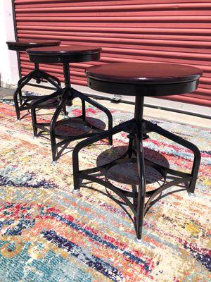 Restoration hardware set of 3 adjustable stools for Sale in San Diego, CA